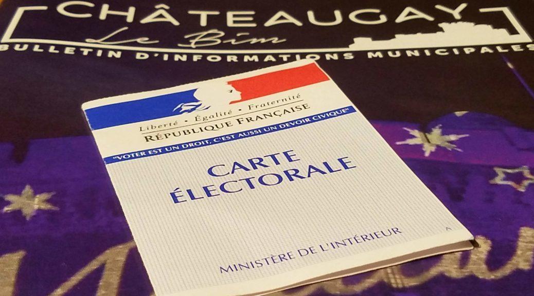 Carte électorale et Châteaugay.