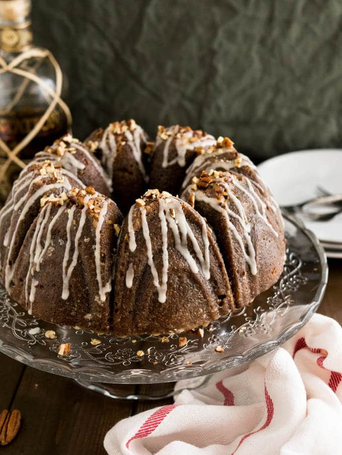 Pumpkin Bundt Cake With Rum Glaze And Pecans Plated Cravings