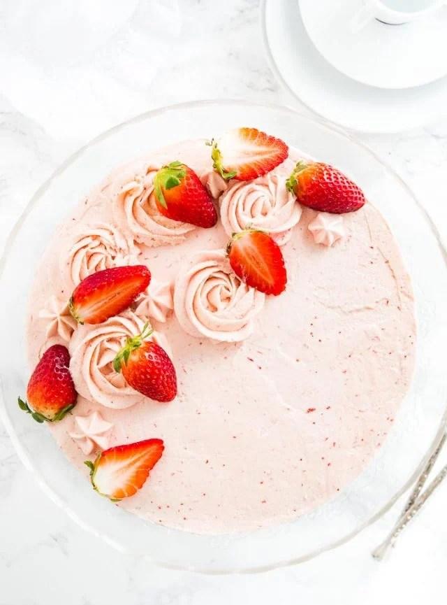 Homemade Strawberry Cake