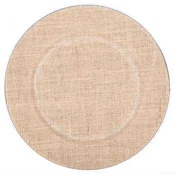 Burlap Charger Plates Koyal Wholesale 424675 Faux Wood