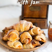 Mini Croissants with jam and how I've met Alan Rickman