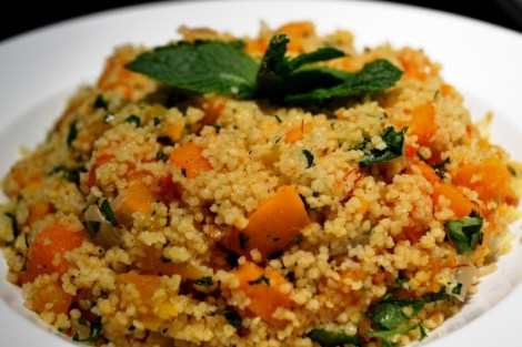 couscous with butternut squash and dried apricots