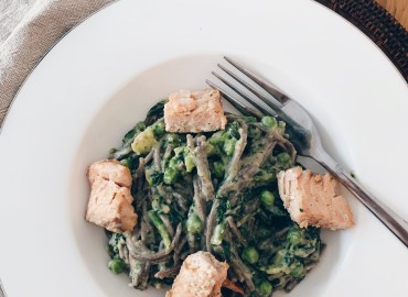 gluten and dairy free salmon pasta