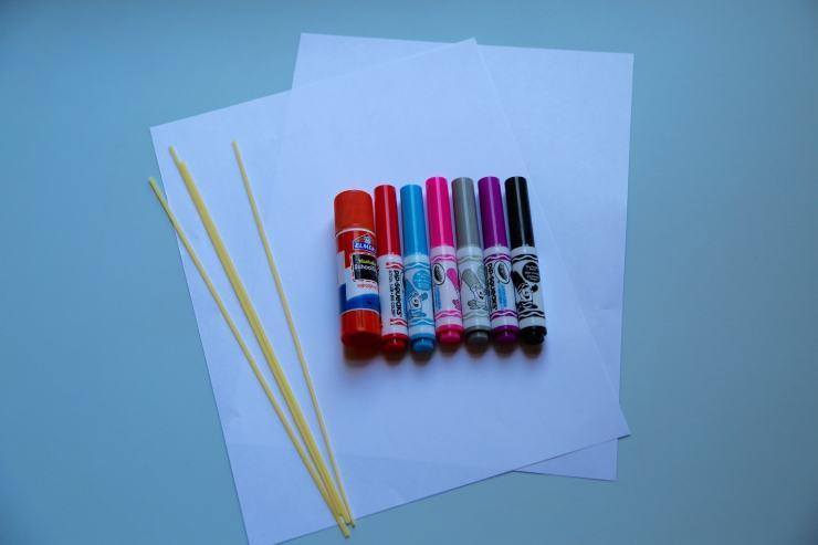 Supplies for Noodle Shrimp craft