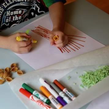 Child drawing tree