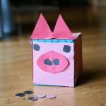 tissue box piggy bank with quarters