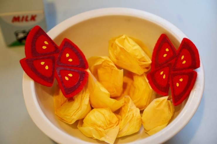 bowl tissue paper tortellini