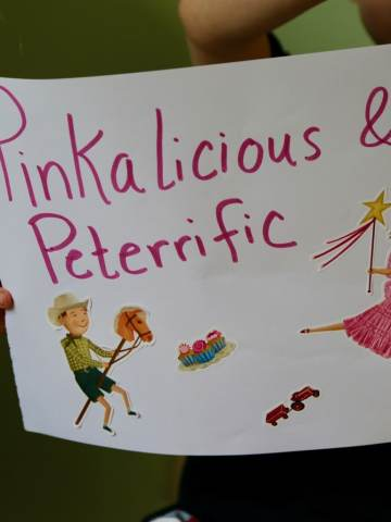 Sign of Pinkalicious and Peterrific