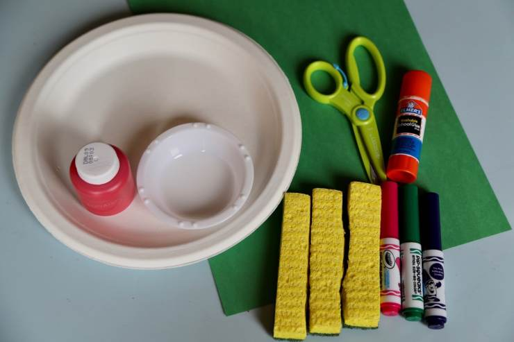 Supplies Sponge Art Tomato Craft