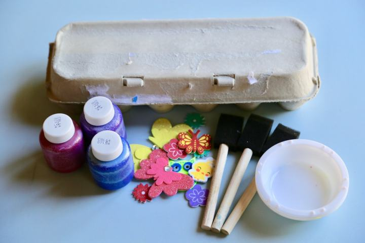 Treasure Box egg carton supplies