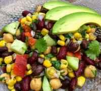 Closeup of Three Bean Salad