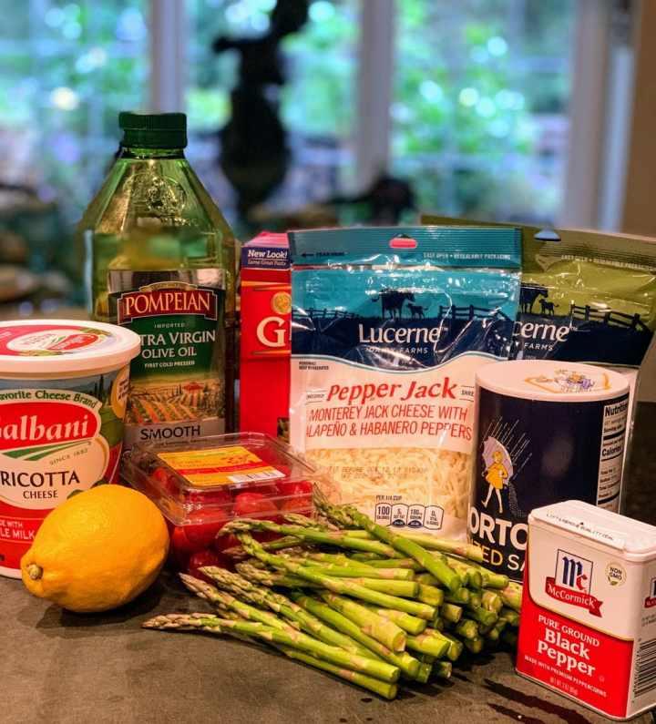 Ingredients Three Cheese Pasta