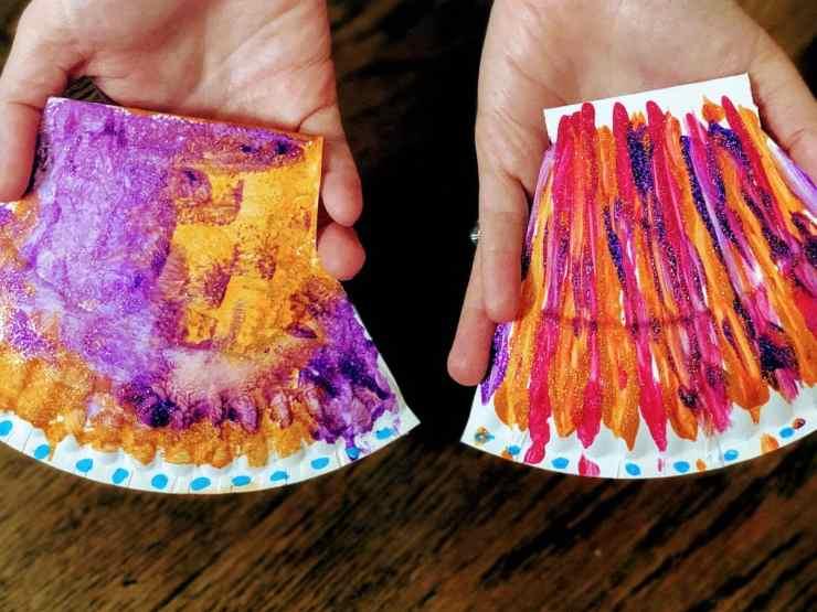 scallop crafts in hands