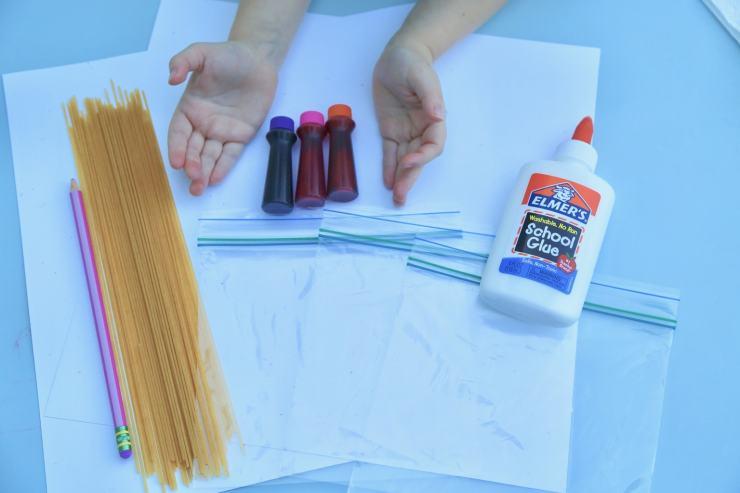 spaghetti craft supples