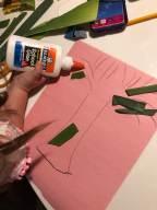 Making Pink Food Scrap Craft 2