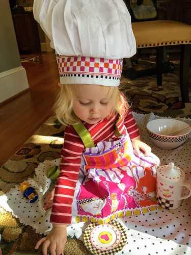child in chef hat