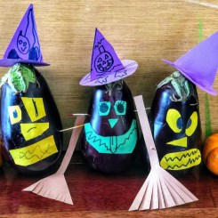 Halloween Craft: Eggplant Witch