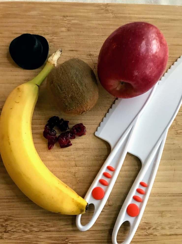 bananas, kiwi and apple