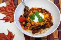 Quick Vegetarian Chili Over Rice