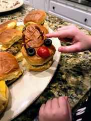 assembled reindeer turkey slider