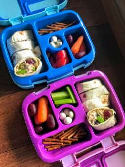 Kids Lunch Boxes with Chicken Salad Wraps