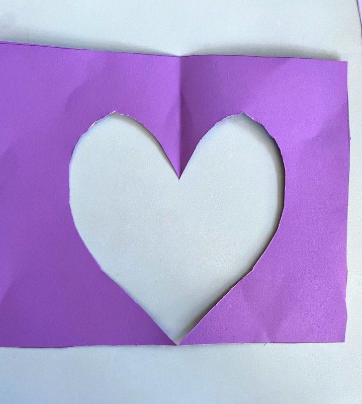 heart shaped cutout