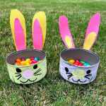 bunny dishes in grass