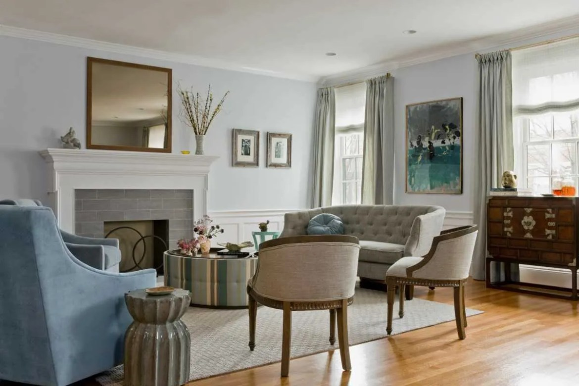 Platemark Interior Design Brookline Living Room