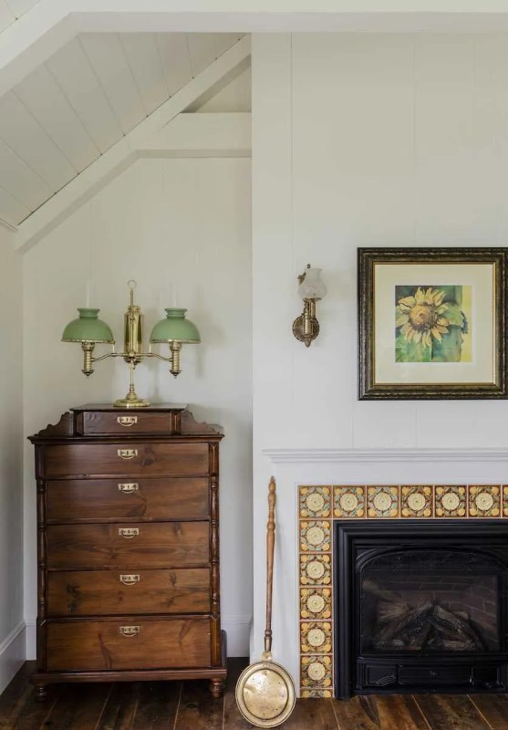 Platemark Interior Design Chatham Bedroom Fireplace