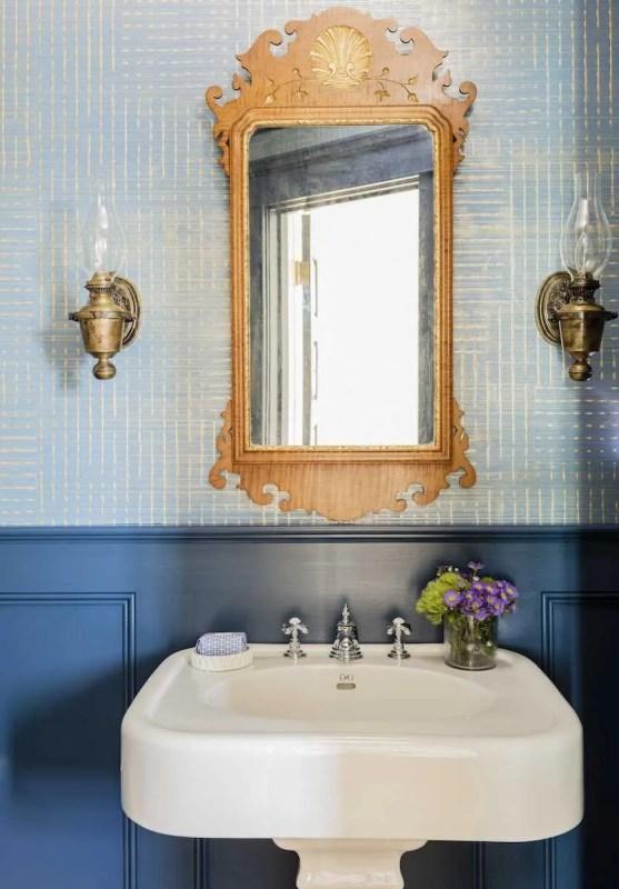 Platemark Interior Design Chatham Powder Room