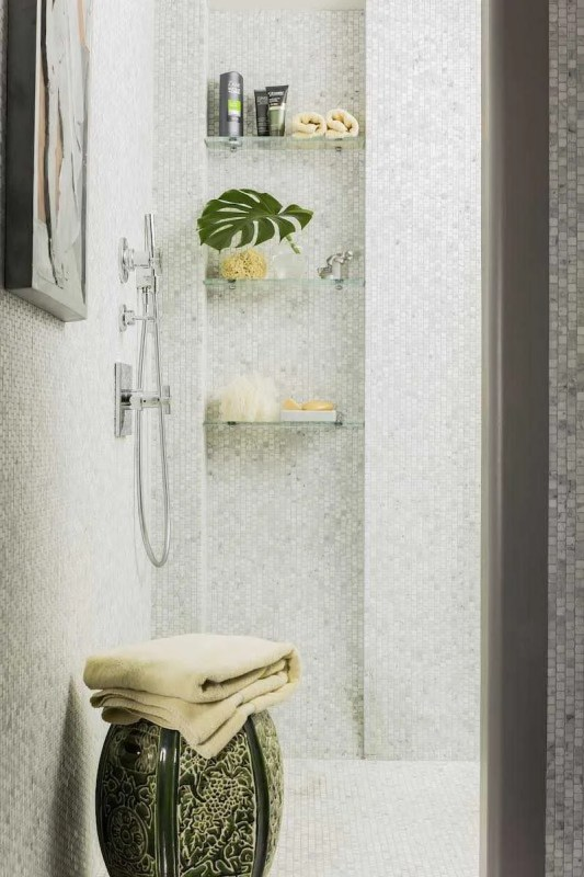 Platemark Interior Design Commonwealth Avenue Master Bathroom Shower