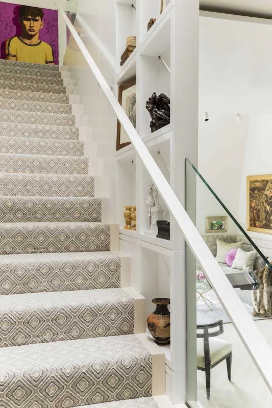 Platemark Interior Design Commonwealth Avenue Stairs
