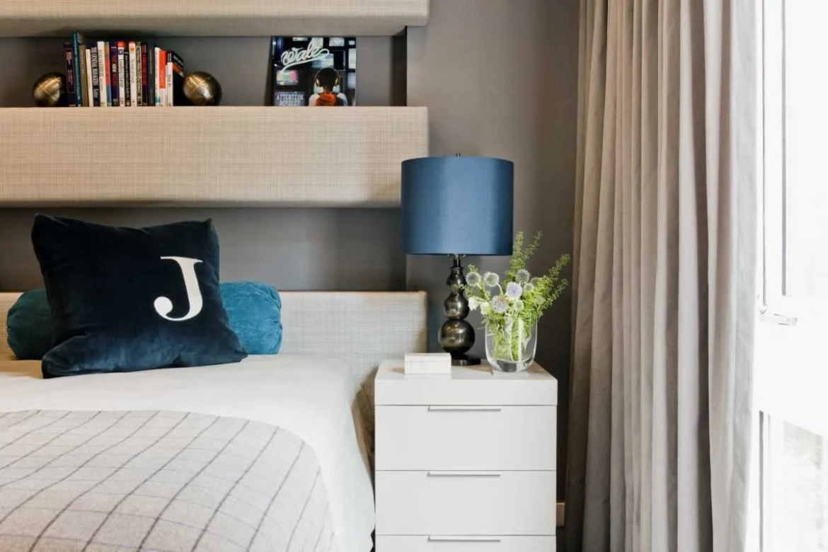 Platemark Interior Design Harvard Square Boys Bedroom Night Stand