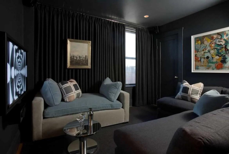 Platemark Interior Design South End Tremont Street Media Room