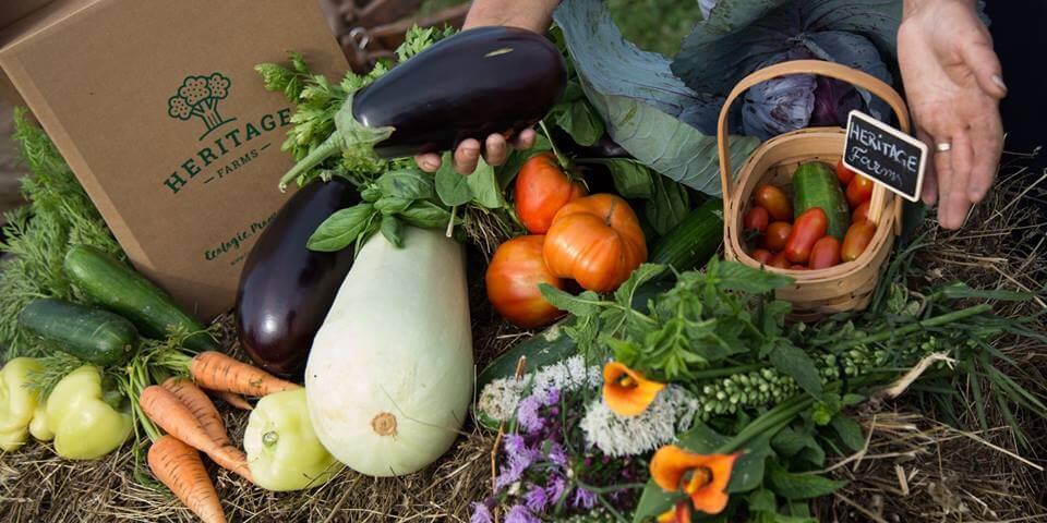 Coș cu legume Heritage Farms, legume românești din Județul Bihor