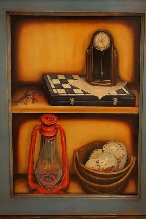 Mobila de bucatarie pictata manual de Mircea Ungurean (20)