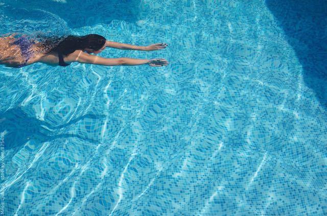 Swimming at Sheraton Pool