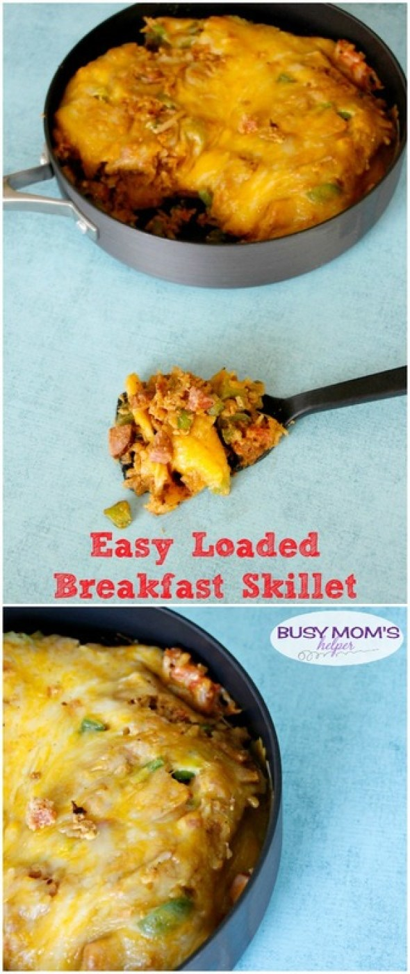Easy Loaded Breakfast Skillet #HelpFuelForSchool @TysonFoods #ad