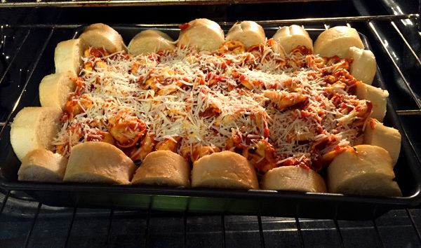 Putting the Tortellini Bake in the Oven