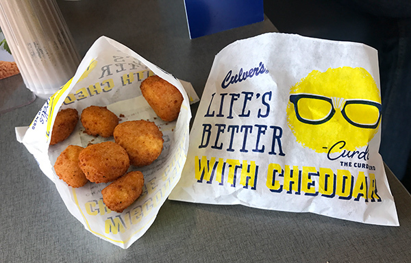 Enjoying National Cheese Curd Day at Culver's