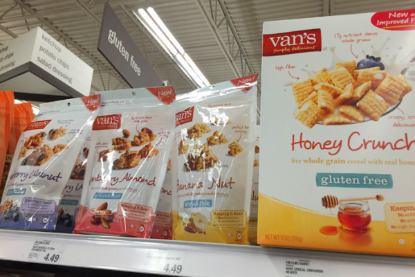 Shopping at Meijer for Van's Foods Gluten Free Options