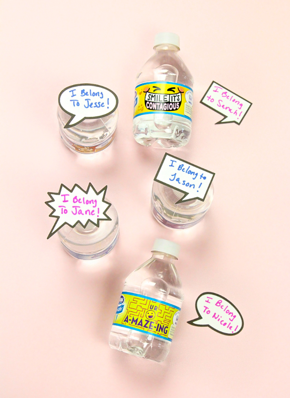 diy word bubble water