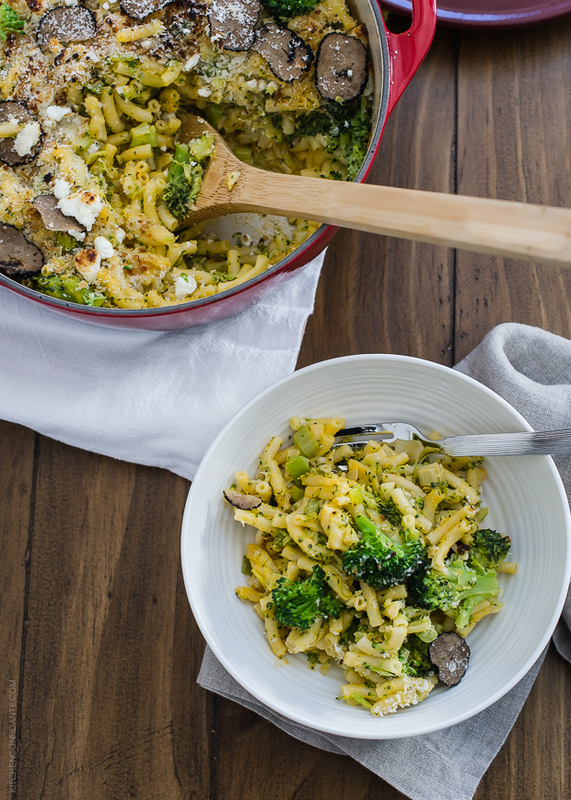 Truffled Mac and Cheese with Broccoli and Goat Cheese | www.kitchenconfidante.com | An easy dish the whole family will love.