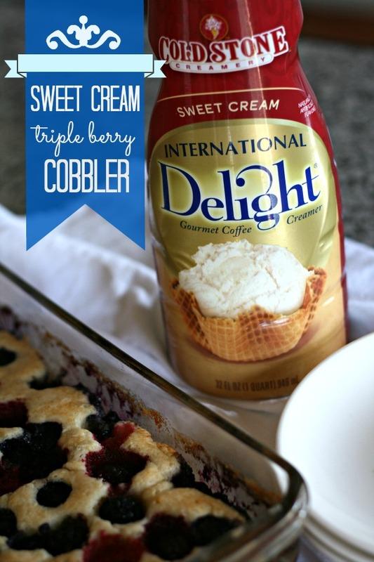 Sweet Cream Triple Berry Cobbler Today39s Creative Life