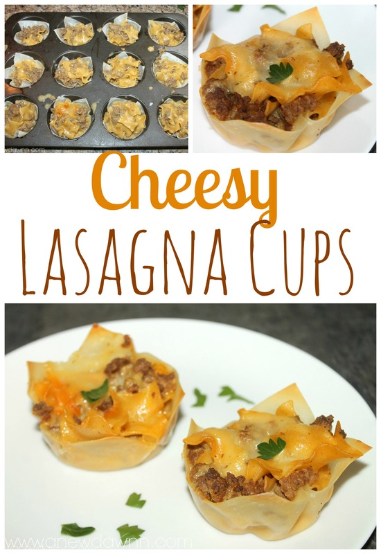 Cheesy Lasagna Cupcakes