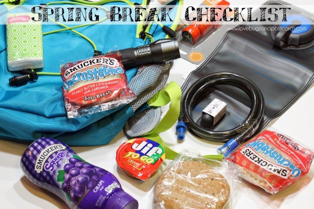 Spring Break Checklist