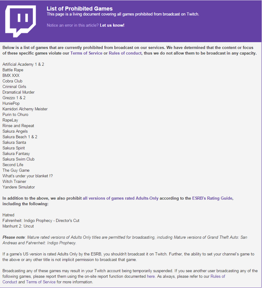 Yandere Simulator Added To Twitch Banned Games List