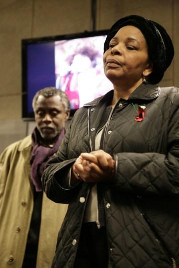 Maria Saro-Wiwa and Eno Usua commemorate the 14th anniversary of the death of Ken Saro-Wiwa