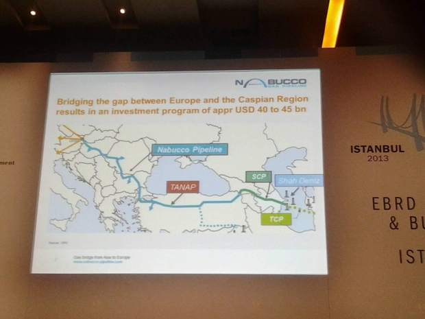 Nabucco executive pitches his pipeline, with onwards connections to Turkmenistan and Iraq