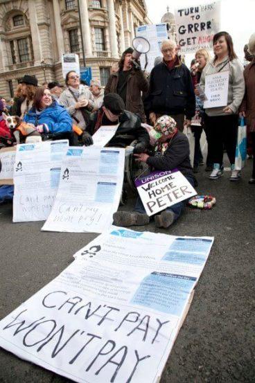 Fuel Poverty Action protest. Image copyright 2013 Martin LeSanto-Smith.